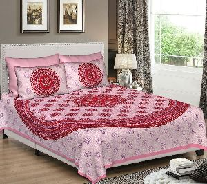 Indian Ombre Multi Color Mandala 100 % Cotton Queen Bed Sheet Bed Spread