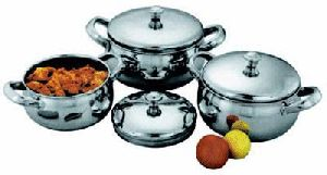 Stainless Steel Belly Casserole Set