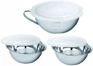 Stainless Steel Measuring Bowl With Lid