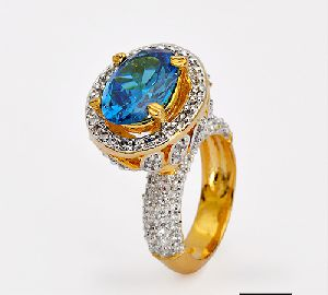 Blue Fancy Ring In Traditional Way For All Occasion