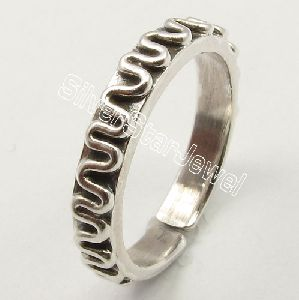 925 Solid Sterling Silver Flexible Adjustable Toe Ring