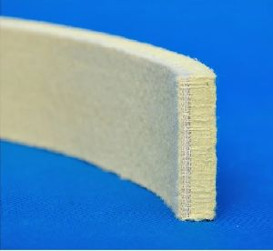 500 Degree Celsius Para Aramid Heat Insulation Felt Strip /Cooling Pad