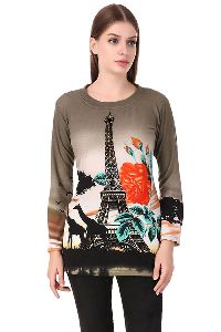 Fasense Woolen Full Sleeve Winter Wear Top For Women Yc006