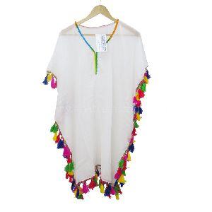 Beach Dress Cover Up Bohemia Long Sleeves Kaftan Casual Dress