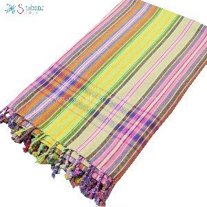 Customized Stripe Kikoy Cotton Bath Beach Towel