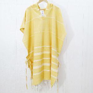 Yarn Dyed Hooded Poncho Beach Towel