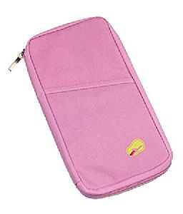 Multipocket Passport Organiser Wallet--Pink