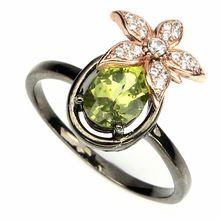 Green Peridot Ladies Thailand Sterling Silver Jewellery