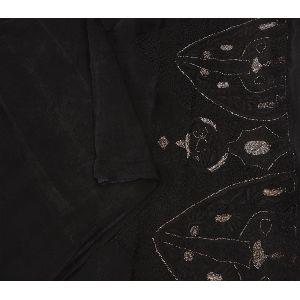 Black Saree Pure Silk