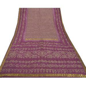 Pure Silk Fabric Hand Embroidered Bandhani Sari