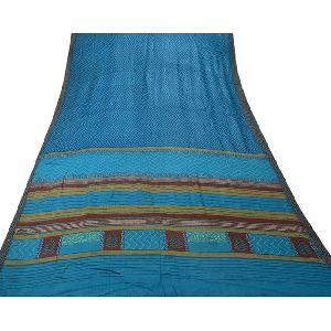 Woven Sari Pure Woolen Craft Fabric Saree