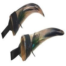 Feather Hand Printed Best Quality Drinking Horn