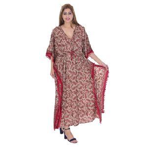 Handmade Antique Beach Women Wear Silk Kaftan