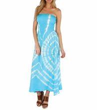 Rayon Tie Dye Tube Maxi Dress
