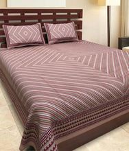 Cotton Double Bedsheet With 2 Pillow Cover