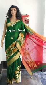 Handloom Cotton Embroidery Saree