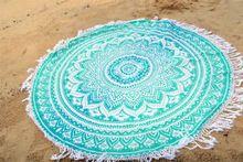Round Beach Hippie Throw Yoga Mat