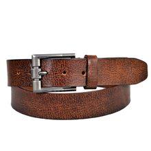 Grain Antique Brown Men Leather Belt
