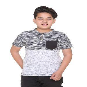 Henley Neck Designer T-shirts For Kid