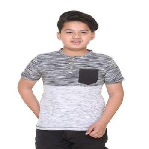 Henley neck designer t-shirts for kids