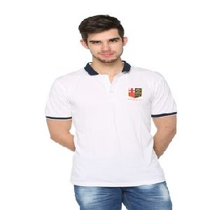 PLAIN WITH EMBROIDERY POLO T-SHIRT FOR MEN