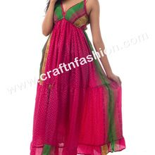 Indian Fusion Designer Summer Wear Party Wear Poly Silk Maxi Dress