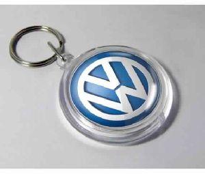 Acrylic Round Shape Keychain with Logo