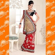 Ethnic Central Indian Wedding Silk Fabric Saree