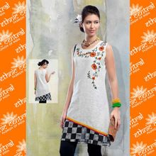 Front Neck Designer Cotton Kurtis