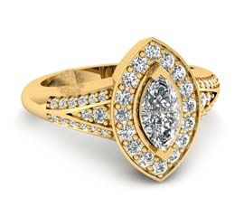 Fancy Diamond And Gold Ring
