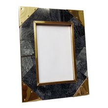 Brass Metal Corner Fitted Resin Inlay Picture Photo Frame