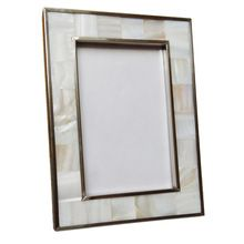 Mother Of Pearl Inlaid Mop Seashell Picture Photo Frame