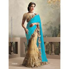 Embroidered Half Half Saree