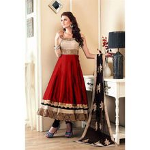 Embroidery Lace Work Party Wear Indian Anarkali Suit
