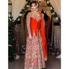 Exclusive Designer Indian Ethnic Wear Taffeta Silk Anarkali Suit