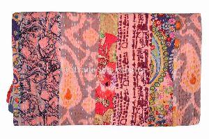 Floral Patchwork Kantha Quilt