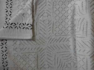 Handmade Applique Cutwork Kantha Quilt