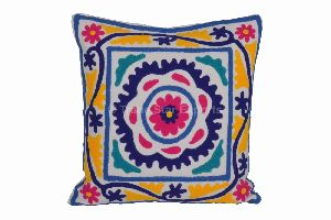 Indian Suzani Emroidery Cushion Cover