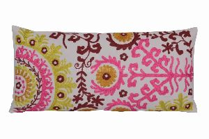 Indian Suzani Pillow Cover Embroidery Throw