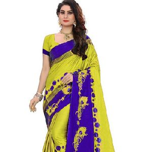 Soft Cotton Silk Saree With Blouse For Women