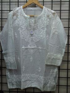 Mal White Embroidered Tunic