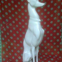 Decorative Metal Greyhound Statue