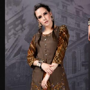 Rayon Indo Western Ladies Dresses Tips Tops Kurta