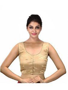 Singaar Gold Color Silk Saree Blouse