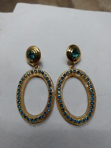 Horn Brass Earrings