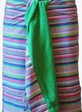 Cotton Stripes Multicolor Beach Sarong Wrap, Beach Wrap