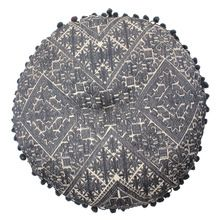 Embroidery Round Floor Cushion Pillow