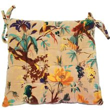 Textile Printed Square Chair Pad