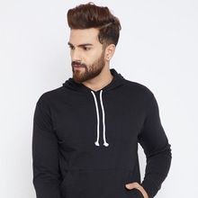 Cotton Round Neck Black Sweatshirt