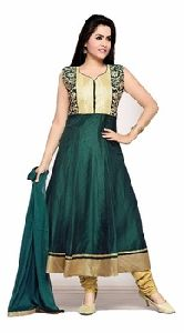 Embroidered Chanderi Silk Anarkali Salwar Kameez